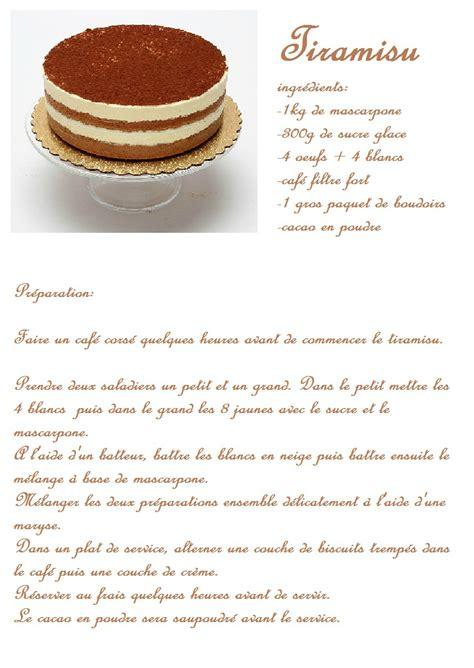recette de cuisine a imprimer tiramisu avec fiche recette le de diana