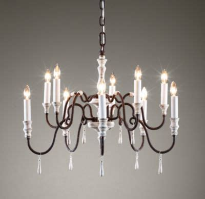 lut 232 ce chandelier distressed white industrial