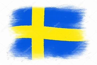 Svenska Flaggan Flag Swedish Den Flagga Stockbild