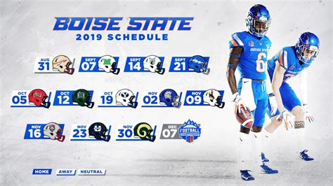 boise state football schedule released