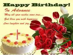 birthday advance wishe...