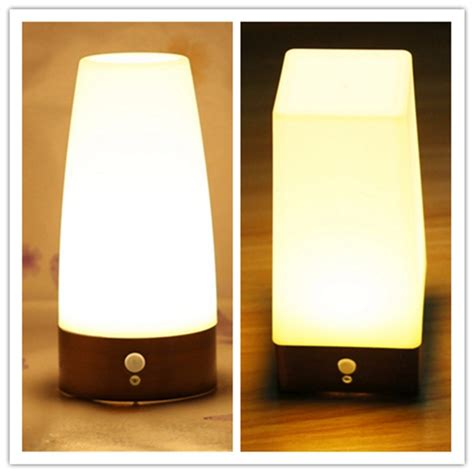 battery operated table l desk ls wireless led night light table bed l motion sensor battery operated for indoor