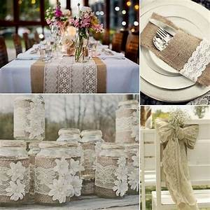 tablecloths wedding and inspiration on pinterest With burlap and lace wedding decorations