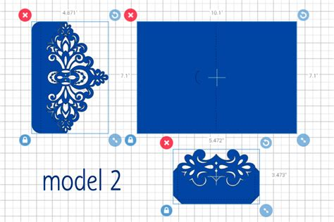 Lace Wedding Invitation Svg Tri Fold Envelope Template