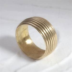 Wide Unique Wedding Bands For Women Gold Wedding By ...