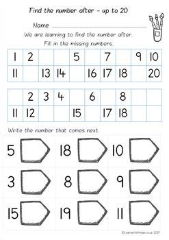 number       worksheet pack worksheets
