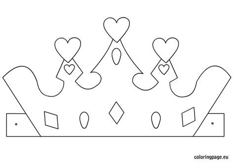 princess crown template coloring page