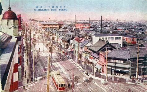 Nihonbashi District, 1905-1930. | Old Tokyo