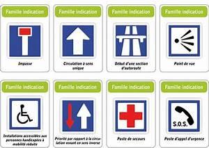 Panneau De Signalisation Code De La Route : jeu des 5 familles de panneaux de signalisation routi re famille indication ~ Medecine-chirurgie-esthetiques.com Avis de Voitures