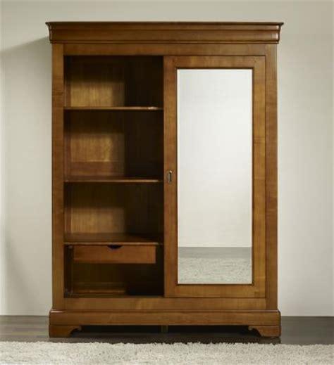 armoire 2 portes charlotte en merisier massif de style