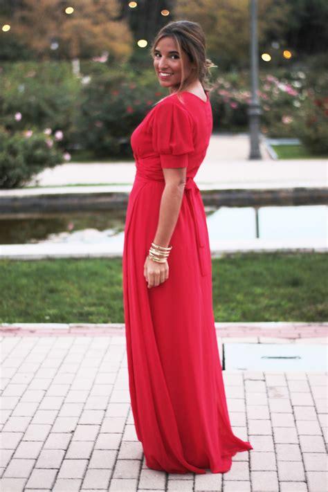 Vestido largo y rojo apuesta segura para las bodas de invierno y las navidades u2013 La Reina del ...