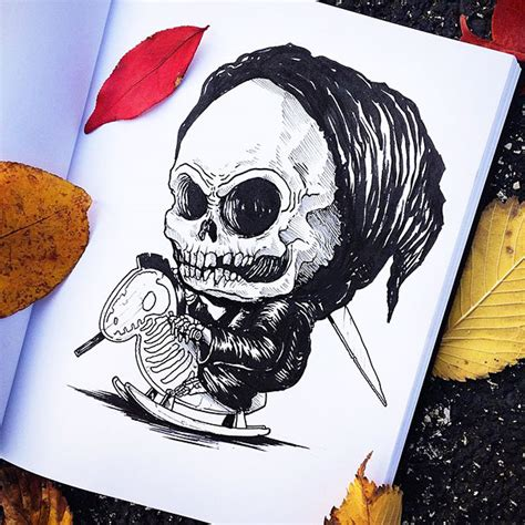 baby horror monsters iconic terrors characters famous solis alex illustrations babies grim reaper