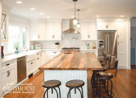 wood island tops kitchens reclaimed chestnut kitchen island counter in sea cliff ny