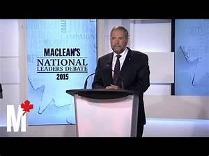 Mulcair on Canada and Iraq: Maclean's debate - YouTube