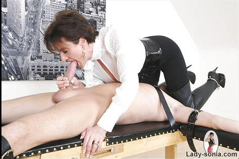 Fully Clothed Mature Femdom Sucks And Strokes Her Human