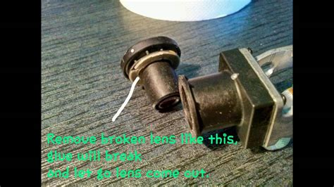 replace broken parrot bebop lens  cheap gopro lens diy manual repair youtube
