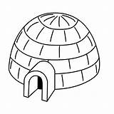 Igloo Coloring Pages Drawing Printable Architecture Drawings Colour Various Eskimo Buildings Gifs Letter Neo sketch template