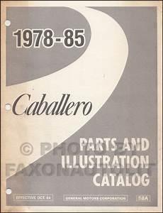 1985 Caballero El Camino Monte Carlo Wiring Diagram Original Chevrolet Gmc