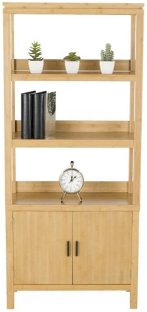 Affordable Green Office Bamboo Desk & Bookcase (clearance