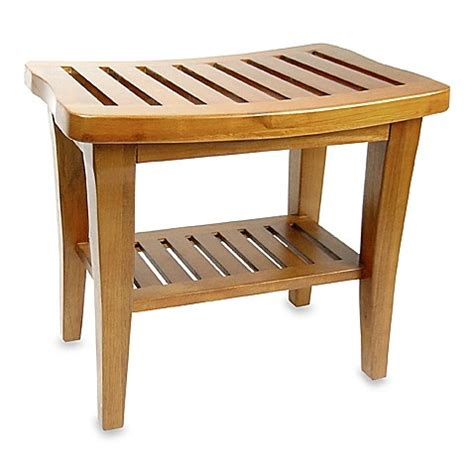 teak wood shower bench wwwbedbathandbeyondcom