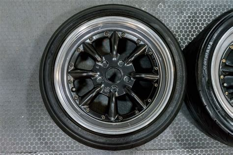jdm ssr rs wantanabe  piece staggered wheels