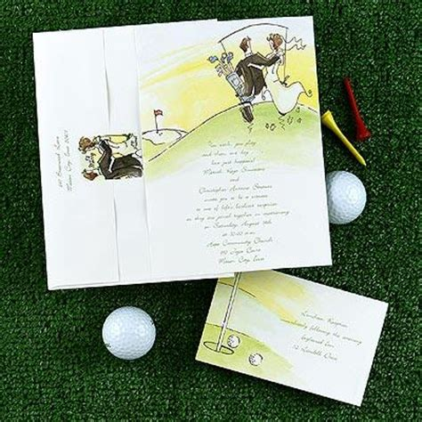 golf themed wedding invitations and response cards onewed