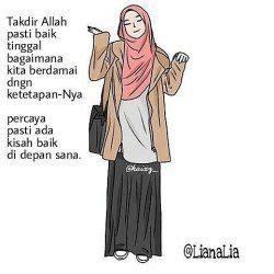 foto kartun muslimah  kata mutiara kartun gambar