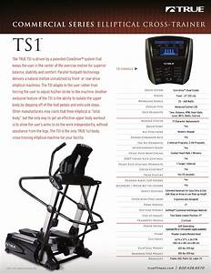 True Fitness Elliptical Trainer Ts1 User Guide