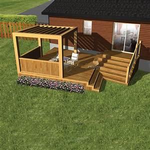 Cette Terrasse En Bois  Au Design  U00e9pur U00e9  Est Construite