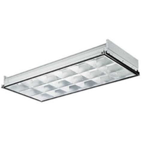 2x4 Fluorescent Light Fixture by 2x4 Lay In 18 Cell Parabolic Troffer 4 Lamp T8 Fluorescent