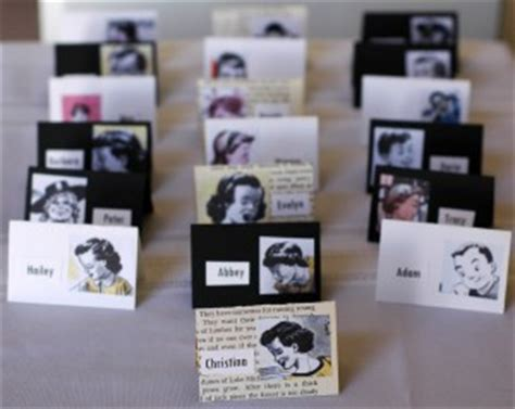 diy wedding place cards easy peezy wedding name cards made from vintage children s books