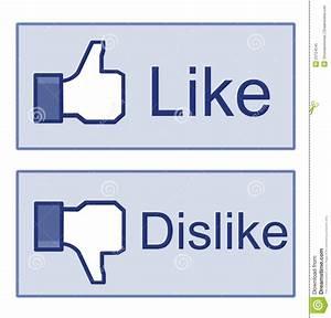 Facebook Like Dislike Thumb Up Sign Editorial Image ...
