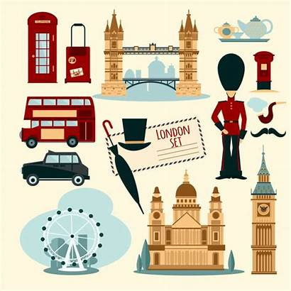 London Vector Clipart Illustration Landmarks Touristic Bridge