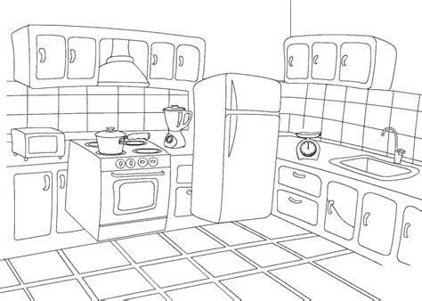 color kitchen  coloring pages  preschooler