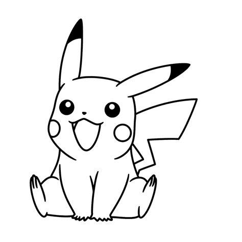 Kleurplaat Pikachu leuk voor pikachu