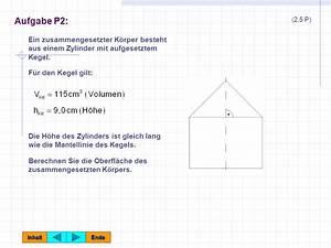 Höhe Eines Kegels Berechnen : abschlusspr fung an realschulen ppt herunterladen ~ Themetempest.com Abrechnung