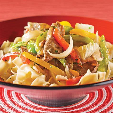 chinois cuisine sauté de boeuf aux poivrons et chou chinois recettes cuisine et nutrition pratico pratique