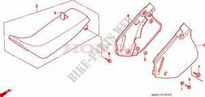 Seat  Side Cover  Cr125rp  Rr  Rs  Rt  Rv  For Honda Cr 125