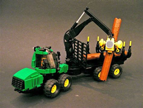 Auto Forwarder Deere Forwarder Farm Lego Tractor Lego Lego Truck