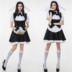 Women Anime Cosplay Costume Japan Maid Restaurant Waitress Outfit in Clothes Shoes ...