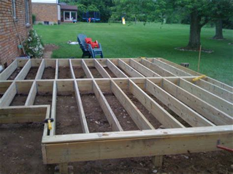 easy way to make a patio easy to build a simple deck how to build a easy deck part 3