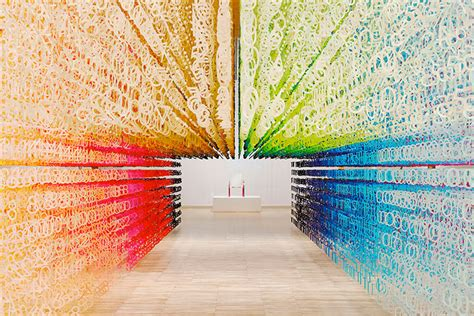 world of color times emmanuelle moureaux s rainbow installation color of time