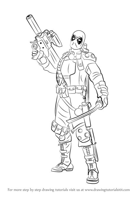 step  step   draw deadpool   gun