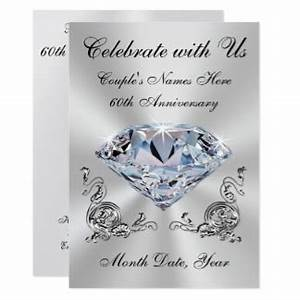 60th wedding anniversary invitations announcements zazzle With 60 year wedding anniversary