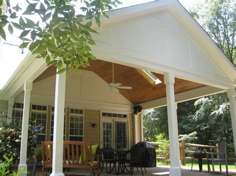 beaded kitchen cabinets covered porch addition traditional porch 1535