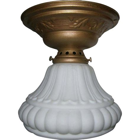 three vintage flush mount ceiling light fixture sold on