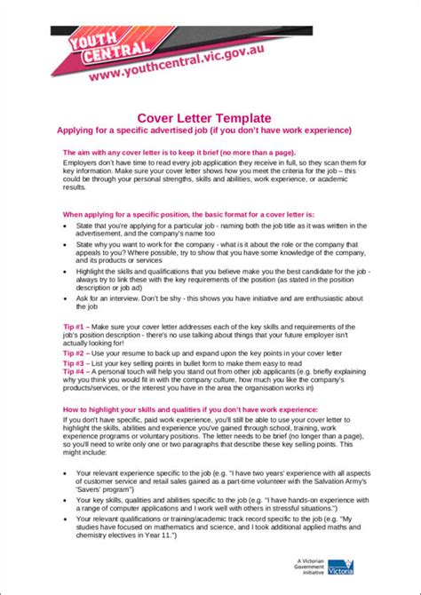 experience level impacts  cover letter