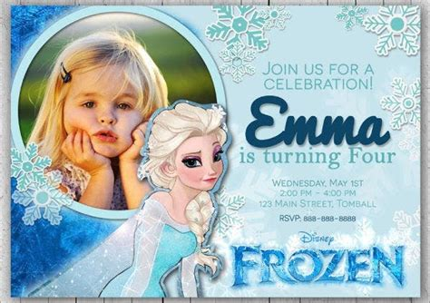 frozen invitation templates word psd ai