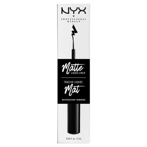 NYX Professional® Makeup Matte Liquid Liner Black - 0.06oz