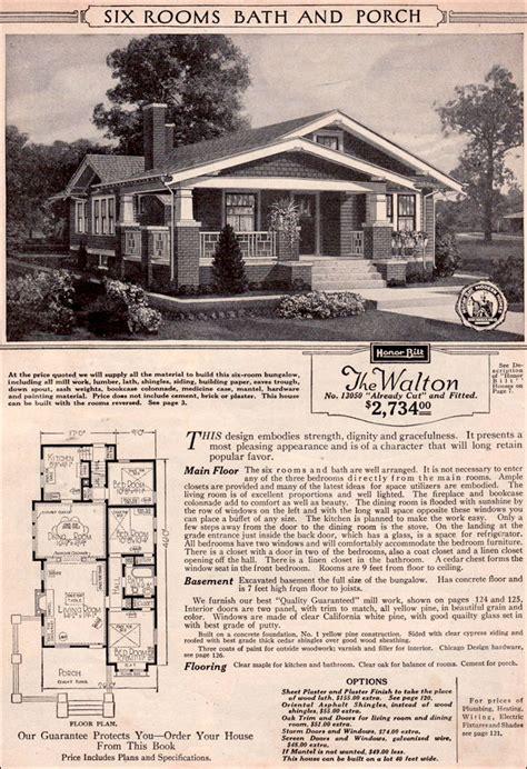 vintage sears house plans sears craftsman home plans bungalow kit treesranchcom